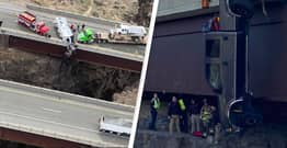 Elderly Couple Left Dangling Over 100ft Canyon After Car Crashes Off Bridge In Idaho