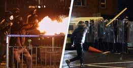 Belfast Police Attacked By Rioters During Seventh Night Of Violence