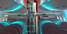 Robot Uses UV Light To Disinfect Aeroplane