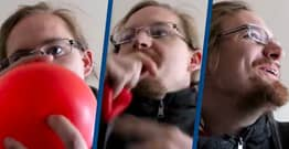 Guy Demonstrates Gas That's The 'Opposite' Of Helium Which Makes Your Voice Deeper