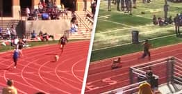 Rogue Dog Breaks Onto Track And Wins High School Relay Race