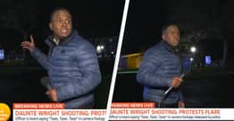 Good Morning Britain Reporter Forced To Hide After Gunfire Breaks Out During News Report