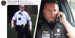 LeBron James's Controversial Tweet About Police Officer Mocked By Cop In TikTok Viewed Three Million Times