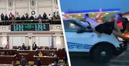 Protesters Interrupt Oklahoma House Session Over 'Anti-Riot' Bill That Grants Immunity To Drivers Who Run Over Protesters