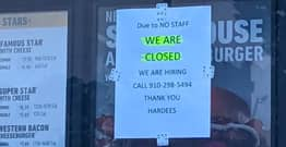 Restaurant Sign About Having 'No Staff' Sparks Debate On Minimum Wage And Working Conditions