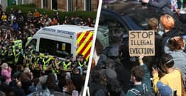 Protesters Block Immigration Van From Leaving After Officials Raid Home