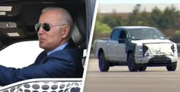 Conspiracy Theorists Think Biden's Electric Truck Was Actually Driven By Secret Service