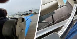 Plane's Emergency Exit Door Flies Off Right Before Take-Off