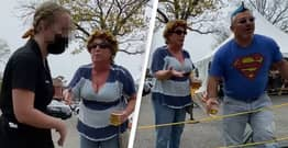 Vice Principal Filmed Throwing Beer At People During Wife's Transphobic Rant