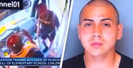 Armed School Bus Hijacker Lets Children Go After Repeatedly Pestering Him