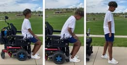 Man Who Was Given 1% Chance To Ever Walk Again Takes First Steps In Emotional Video
