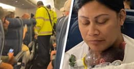 Woman Who Had No Idea She Was Pregnant Gives Birth Mid-Air On Flight