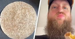 This Man's Breakfast Wrap Is The Weirdest Thing You'll See Today