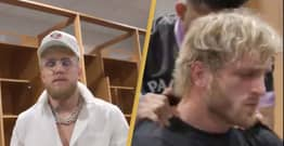 Jake Paul Shares Video Revealing What Made Logan Paul Cry Before Floyd Mayweather Fight