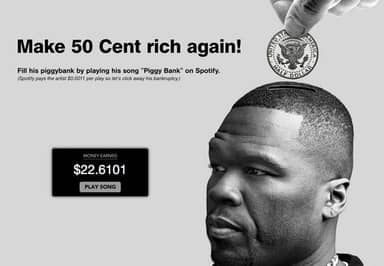 Internet Finds Amazing New Way To Help 50 Cent Get Rich Again