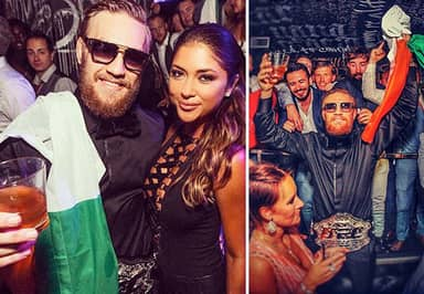 Conor McGregor Paints The Town Green, White And Orange Following UFC Title Win