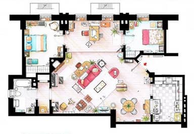 Someone Has Drawn The Floorplans Of Popular TV Show Apartments