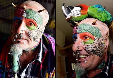 Man Gets Ears Chopped Off To Look Like Parrot, That's Just The Start