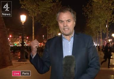 Stellar Reporting From Channel 4 As Nervy Parisians Flee Live Scene