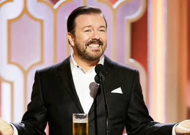 Everyone Is Talking About Ricky Gervais' Golden Globes Antics