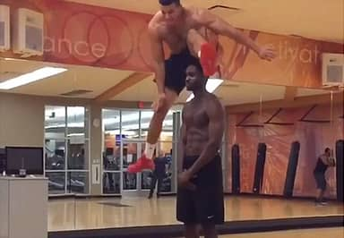 This Personal Trainer Defies Gravity With Superhuman Vertical Leaps