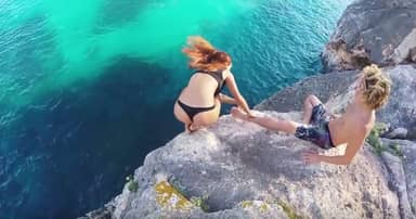 People Still Don't Get This Guy's Reaction To Girlfriend Falling From Cliff