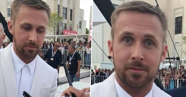 Ryan Gosling Reacts Hilariously To Fan Screaming For His Attention