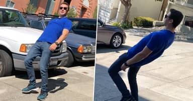 Guy 'Defies Gravity' With 'Get Low' Walk On One Of Steepest Streets In San Francisco