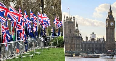 Brexit Supporters Got Up At 6am To Put Up Union Flags Outside Parliament
