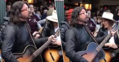Dave Grohl Goes Viral After He Spent Coachella Busking At Market