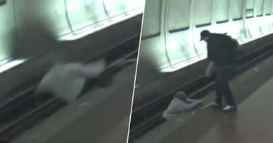 Strangers Save Visually Impaired Man From Train After He Falls On Tracks
