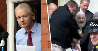 Julian Assange Seen Looking Very Different During Arrest Video