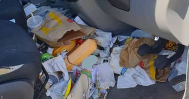 Driver Fined By Police Because Car Was So Messy It's Dangerous
