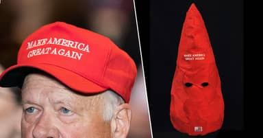 Artist Banned From Social Media For Turning MAGA Hats Into Nazi Armbands And KKK Hoods