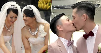 Hundreds Tie The Knot On First Day Gay Marriage Is Legal In Taiwan