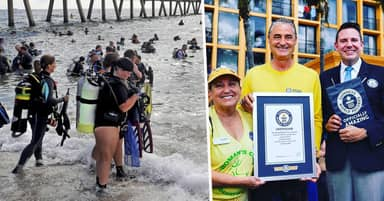 633 Divers Collect World Record Breaking 1,500 Pounds Of Rubbish From Florida Beach