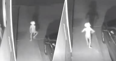 CCTV Captures Sinister 'Dobby The House Elf' Walking Up Woman's Driveway