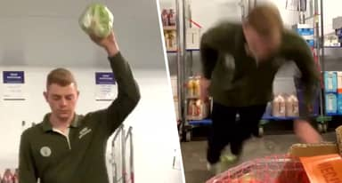 Tesco Employee Facing Tribunal For Filming Himself Jumping On Lettuce