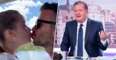 Piers Morgan Calls David Beckham Creepy For Kissing His Daughter On The Lips