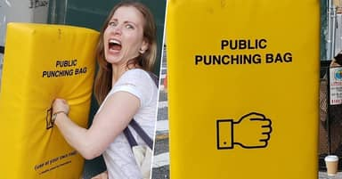 New York Installs Punching Bags To Relieve Frustrated People