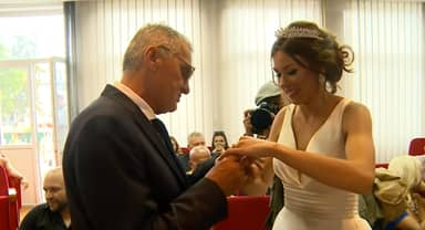 Couple With 53-Year Age Gap Finally Marry In Televised Ceremony