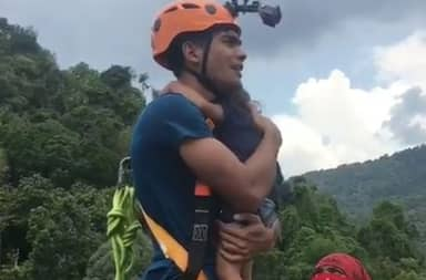 Dad Faces Backlash After Dangerous Bungee Jump Stunt With Toddler