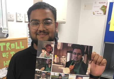 Starbucks Barista Gives Colleagues Hilarious Leaving Card So They'll 'Never Forget Him'