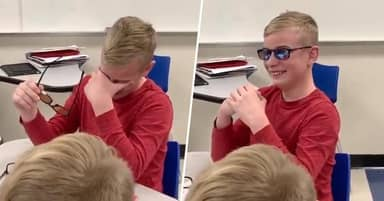 Colour Blind Student Gets To See Colour For The First Time Thanks To Special Glasses