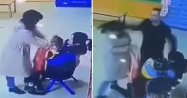 Dad Punches Nursery Teacher For Smothering Daughter With Apron