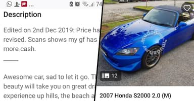 Man Posts Ad To Sell Car After Wife Finds Out His Girlfriend Is Pregnant