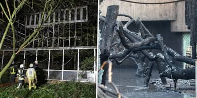 Mother And Two Daughters Hand Themselves In Over Devastating Zoo Fire