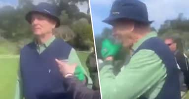 Bill Murray Downs Fan's Tequila Shot Mid-Round On Golf Course