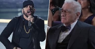People Think Martin Scorsese Had A Nap During Eminem's Surprise Oscars Performance