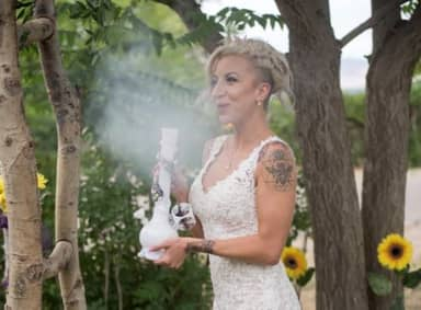 Colorado Couple Have Weed-Themed Wedding With Cannabis Bar And Special Bong